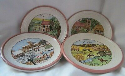 4 X Miniature Purbeck Pottery Plates Coasters  • 10£