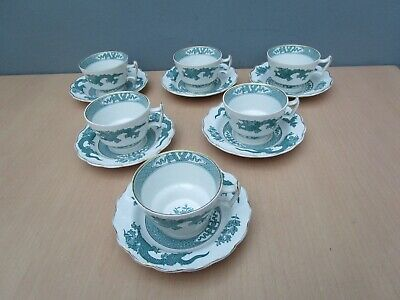 6 Vintage Booths  Dragon  Tea Cups And Saucers • 14£
