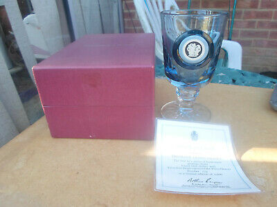Boxed Wedgwood Jasperware Tri Colour Cameo Chalice Glass Three Graces No 256 • 15£