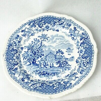 Vintage Seaforth Woods Ware Blue And White Side Plate Sandwich Plate  • 7.99£