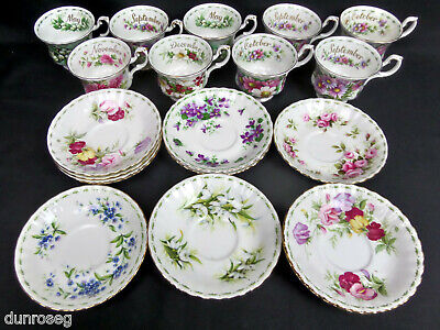 Royal Albert Flower Of The Month, Assorted Single Saucers, England • 2.95£
