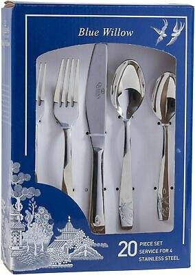Blue Willow - 20 Piece Cutlery Set • 40£