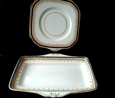 Vintage Maddock Royal Vitreous Platter Dish Serving Tray Square Sandwich Dish • 9.99£