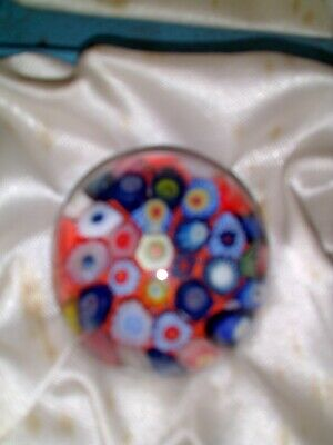 Strathearn Scottish Studio Glass Small Millefiori Closepack Paperweight Boxed • 35£