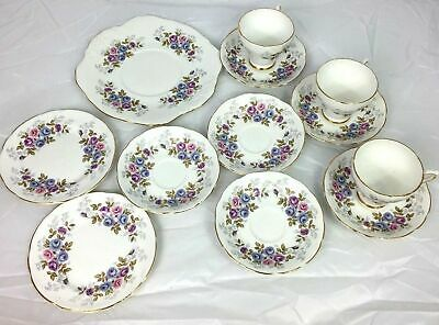 Royal Sutherland Fine Bone China Cup Saucer Plate Trio Set Rose AY • 29.99£