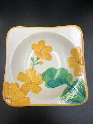 Gray's Pottery Small Bowl In Yellow Green Floral Design • 12£