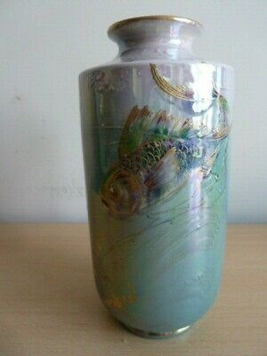 Shelley Vase By Walter Slater Decorated With Fish • 225£