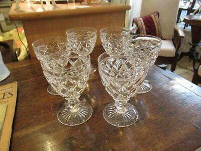Set Of Six Stuart Crystal Victoria Goblets • 95£