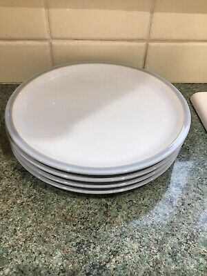 Denby Everyday Cool Blue 9ins Plates X 4 Lovely • 19.99£