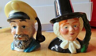 Two Collectable Mini Character Toby Jugs - One Sylvac  • 8.99£