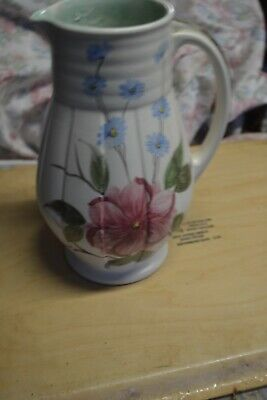Beautiful Handn Painted Jug By E Radford 9 Inches Tall • 9£