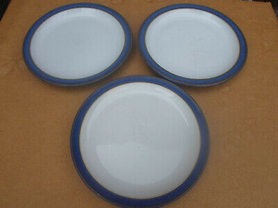 Denby Imperial Blue Side Plates X 3 • 4.20£