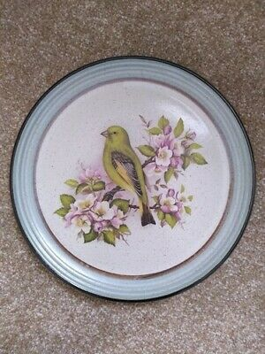 Purbeck Pottery Stoneware Yellowhammer Design Plate : Diameter 8.5 Inches • 6.99£