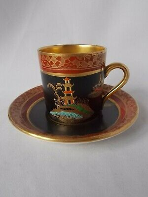 Early Carlton Ware Mikado 2881 Art Deco Coffee Can And Saucer  • 14.99£