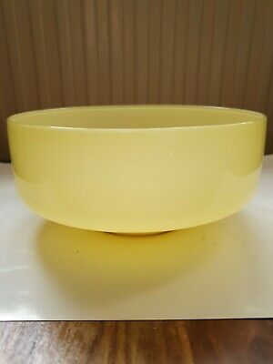 Vintage Yellow Glass Bowl Excellent Quality Polished Base And Pontil 7 Inch... • 0.99£