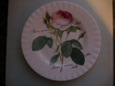 Roy Kirkham Plate Redoute Rose(21cms ) • 6£