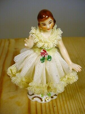 Dresden Art Germany Small Lace Figure • 0.99£