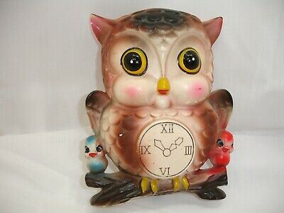 Vintage Ceramic Wall Pocket, Adorable Owl, 5.5 X 5 Inches. • 16.25£