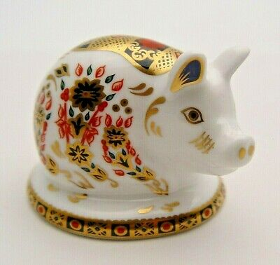 Fine Royal Crown Derby Piglet Paperweight - First Quality - Perfect • 25.19£