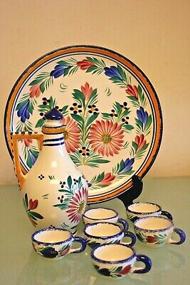French Appetiser Set Of Hand-painted Pottery By Henriot HB Quimper Faience • 15£