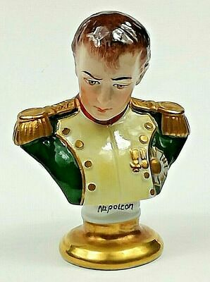Volkstedt Small Bust Of Napoleon By Rudolf Kammer • 29.99£