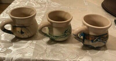 Vintage Nemadji Pottery, USA Coffee Cups X 3 Unused • 7.99£