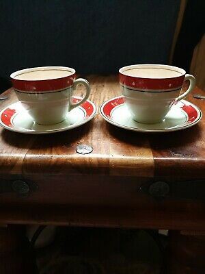 Pair Alfred Meakin Cups And Saucers Vintage  Good Condition  • 1.30£