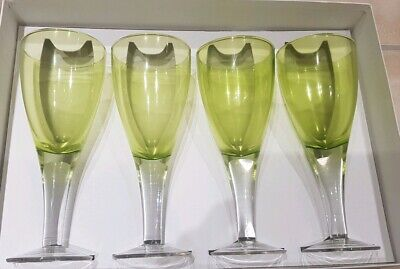 Green With Clear Stem Wine Glasses Large  • 12£