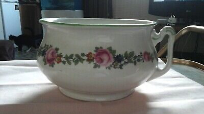 Vintage Retro Woods And Sons Stoneware Chamber Pot - Good For Plants • 5£
