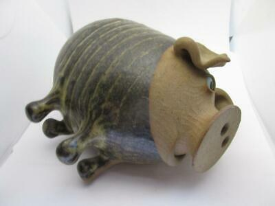Vintage Muggins Pottery Stone Ware  Pig Piggy Bank Money Box Well Modled 6x6x4  • 29.99£