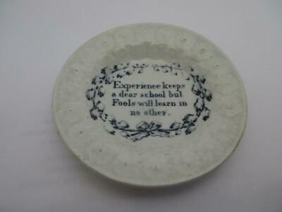 Antique Staffordshire Pottery Motto Plate   Experience Keeps A Dear School   K75 • 19.99£