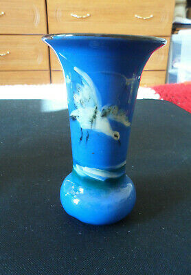 Unusual Piece Of Devon/torquay Pottery.blue.white Seagull Flying. 5.35ins Tall.  • 8.50£