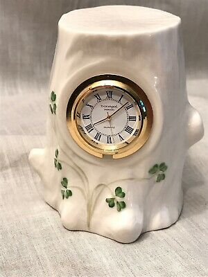 Donegal Parian China Clock Rare Shamrock Tree Stump Irish Pottery • 25£