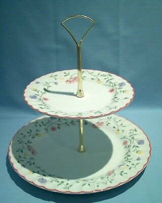 JOHNSON BROTHERS SUMMER CHINTZ,2 Tier CAKE STAND.VGC • 12.95£