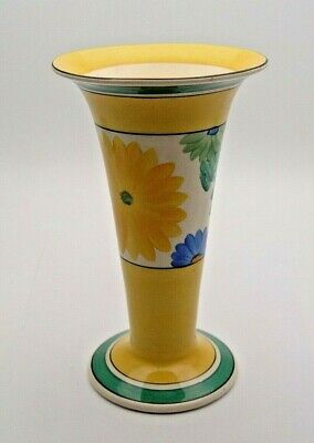 ART DECO CLARICE CLIFF BIZARRE SUNGAY VASE 8'' TALL C.1930's - PERFECT • 58£