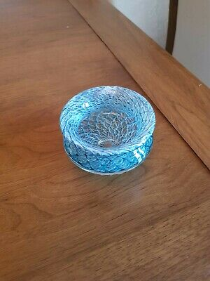 Teign Valley Glass Bowl Fisherman's Net Design (perfect Condition) • 12£