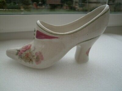 ROYAL WINTON POTTERY ORNAMENTAL LADIES SHOE/VASE 3 1/2  TALL C1950's VGC • 3.25£