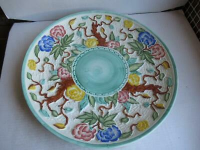 Vintage H.j. Wood, Indian Tree, Hand Painted Charger, Plate, 42cms Diameter. • 5.99£