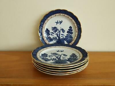 6 Beautiful  Booths Real Old Willow Side Plates  First Quality • 22£