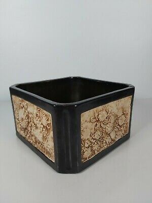 A Bretby Art Pottery Carved Bamboo Ware A Planter No.2042,  11cm Tall • 84£