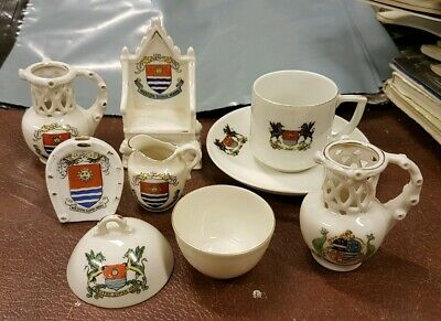 Czechoslovakia Crested China - Gemma & Union. Weston Super Mare & Ilfracombe • 15£