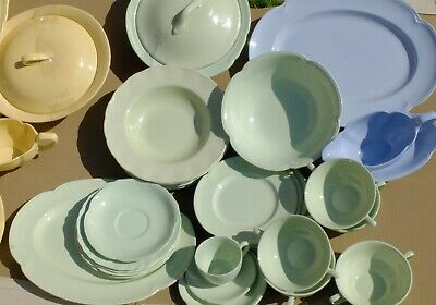 JOHNSON BROTHERS  EARTHENWARE LOT X 40 + ITEMS-ROSE-GOLDEN-GREEN -GREY DAWN • 38£