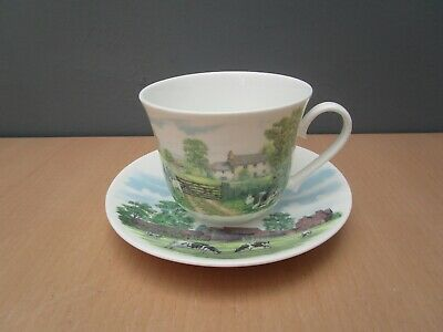 Roy Kirkham English Country Scene Large Breakfast Cup And Saucer • 8£