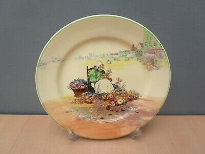 Royal Doulton Series Ware Flower Seller 10 1/4 Inch Plate • 3.50£