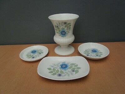 3 Wedgwood  Clementine   Trinket Dishes And Small Vase • 6.50£