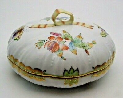 Fine Herend Queen Victoria Lidded Candy Dish 6026 / Vbo - Perfect • 62£