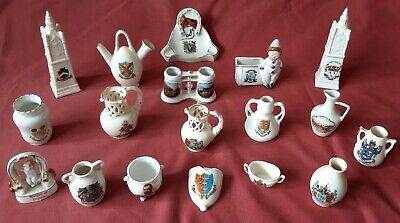 Crested Ware  Job Lot Of EIGHTEEN UNMARKED PIECES  • 6.50£
