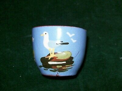 Vintage Torquay-Devon Ware Dartmouth Pottery  Egg Cup With Seagulls Design • 4.99£
