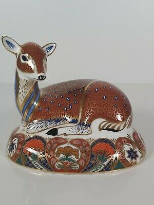 Royal Crown Derby Collectors Guild Deer Paperweight, Appr. 12cm Tall • 228£