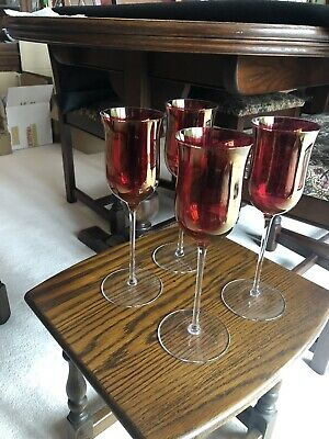 Stunning Vintage Red Wine Glasses 4 Only  • 3.80£